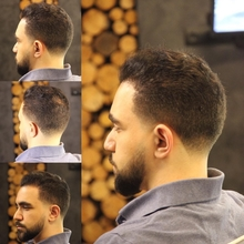 Slick back x taper fade
